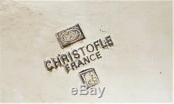 Christofle Marly À Thé Théière Café Sucrier Creamer Plaque Argent Français