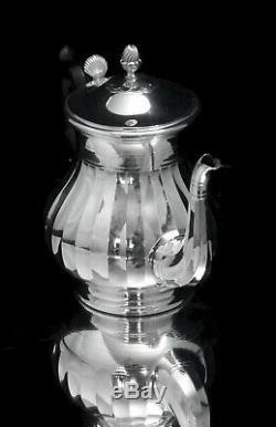 Christofle (cardeilhac) Louis XV Français Antique 950 Argent Sterling Tea Set 1890
