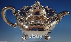Chrysanthème Par Tiffany Et Co Ensemble De Thé En Argent Sterling 7pc Exceptionnel (# 1092)