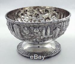 Coin Silver Paysage Ensemble De Thé Et De Café Bailey & Kitchen Philadelphia Rams