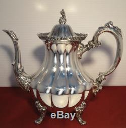 Communauté Oneida Silverplate Argent Artistry Coffee Pot Pour Tea Set