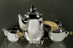 Danish Sterling Tea Set C1945 Main Forgé Rasmussen