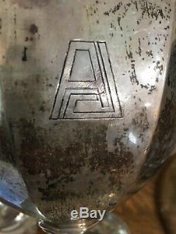 Début 1900 Gorham 5 Pc En Argent Sterling À Thé / Café Set Poids 4 Lb 6 Oz