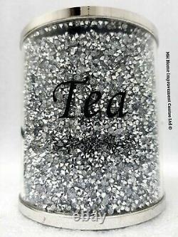 Diamant Crush Sparkly Sucre Décoratif Détenteurs Café Thé Bidons Ensemble De 3