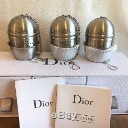 Dior Parfums Vip Ensemble-cadeau De 3 Infuseurs À Thé (5.5cm H) Nouveau Dans La Boîte Tout Neuf