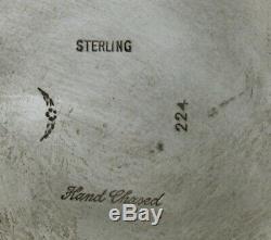 Durham En Argent Sterling À Thé C1950 Décoré À La Main