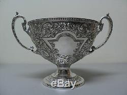 Élaborer Antique Silver Plate Repousse 3-piece Set Tea, C. 1900