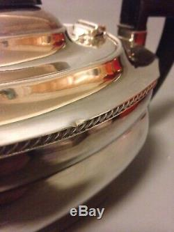 Elkington Anglais Argent Plaque Art Déco Tea & Coffee Set 4 Pc Sheffield Teapot