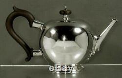 English Sterling Tea Set 1917 George I Manière