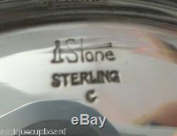 Ensemble À Thé Arthur Stone En Argent Sterling À Thé Avec Bouilloire Inclinable Sur Son Berceau Avec Bac 7pc # 0176