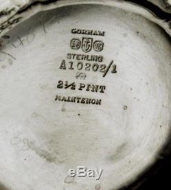 Ensemble À Thé En Argent Sterling Gorham 1930 Maintenon 58 Onces