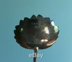 Ensemble De 12 Cuillères À Thé En Bambou Et En Figue Glacée Figue Vintage En Argent Sterling 950, Japonais