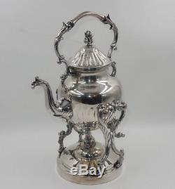 Ensemble De 6 Birmingham Silver Co. Argent Sur Cuivre Thé Café Set Chauffe-pot