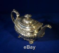 Ensemble De Café À Thé En Argent Sterling Antique Anglais London1820 Rebecca Emes & Edward
