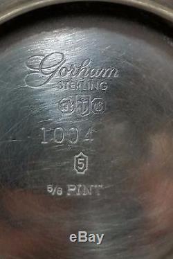 Ensemble De Service À Thé En Argent Sterling Gorham Four Four. 925 1680 Grammes