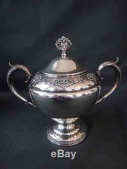 Ensemble De Thé À La Dentelle Sterling Silver Sterling Silver, Pot De Sucre Et De Café