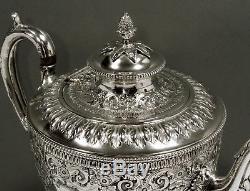 Ensemble De Thé Anglais En Argent 1876 Martin & Hall Persian Taste