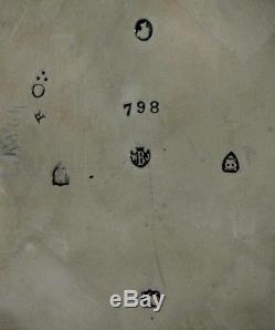 Ensemble De Thé En Sterling Anglais 1877-1884 Gravure À Main Barnards