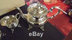 Ensemble De Thé Et De Café En Argent Sterling Japonais Myiata De 1950's En Caisse Originale