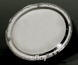 Ensemble De Thé Et Plateau Tiffany Sterling C1907 Persian Design 90 Onces