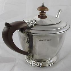 Ensemble De Thé Vintage En Argent Massif Art Déco Chester 1933 Barraclough Sons 510 G