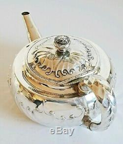 Exceptionnel Coffret À Thé Et À Thé En Argent Sterling À Motif Tiffany & Co En Argent Sterling, 19e