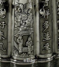 Export Argent Thé Chinois À Thé Bouilloire C1880 Luenwo