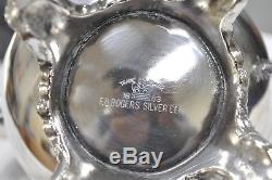 F. B. Rogers Silver Co. Plateau De Service De Plateau À Thé En Argent, 7 Pièces