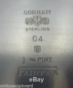 Fairfax By Gorham Ensemble De Thé En Argent Sterling 4pc Crème De Thé En Sucre (# 0391)