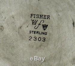 Fisher En Argent Sterling À Thé Colonial C1940