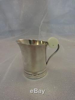 Français. Ensemble De Thé Art Déco En Argent Sterling 950 Creamer # Sugar Coffee # 0145