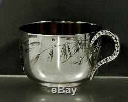 Français Sterling Tea Set Cup & Saucer C1895 Edouard Clerc