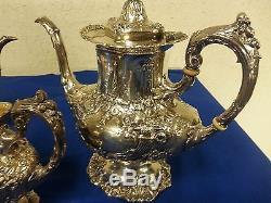 Francis I By Reed & Barton Ensemble De Thé En Argent Sterling Coffee Pot Large 4pc