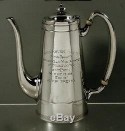 Frank M. Smith Sterling Tea Set Trophée De 1910 Yachting