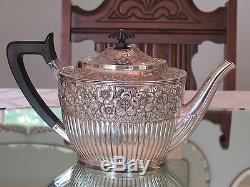 Géo Des Années 1880 C. Shreve & Co Ensemble De Café Et Thé En Argent Sterling Évalué