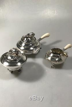 Georg Jensen Argent Blossom Tea Set N ° 2