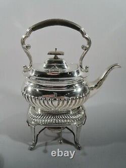 George V Coffee - Tea Set Antique Georgian English Sterling Silver 1918/9