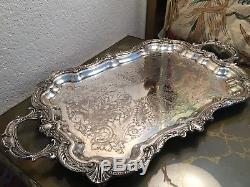 Georgeous Vintage 5 Pièces Set Birmingham Silver Company Silver Sur Cuivre Thé / Café