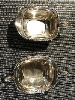 Géorgie English Poinçonnés Argent Tea Set Inc Teapot Pas De Réserve 905 Grams