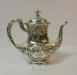 Gorham Buttercup Sterling Silver 5-pièces À Café / Thé, Monogramme S