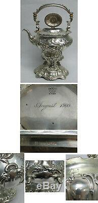 Gorham Chantilly Grand-sterling Silver 6 Pièces Sur Sp Plateau Thé Et Café Set # A597