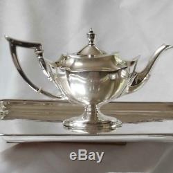 Gorham Plymouth Service De Café Et Thé / Set 4 Pièces 1916/17 Argent Sterling B Mono
