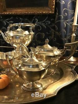 Gorham Plymouth Sterling Silver Set Thé Avec Bouilloire
