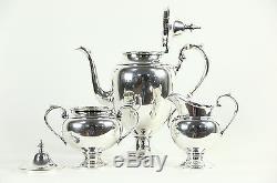Gorham Signed Sterling Silver 3 Pc. Ensemble De Thé Ou De Café Vintage
