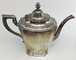 Gorham Silverplate Antique 1929 Art Nouveau Set Café / Thé Y311 Plateau Y301 Y303