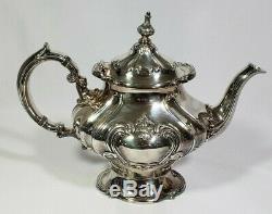 Gorham Silverplate Chantilly 5 Pc. Café À Thé Avec 27 Théière En Pot Plateau Crémier