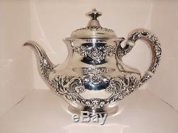 Gorham Sterling Silver Coffret À Café 5 Pièces En Papillon De 1890, 1525 Grammes