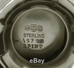 Gorham Sterling Silver Tea Set 1907 Décoré À La Main