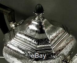 Gorham Sterling Silver Tea Set 1917 Décorée Hand