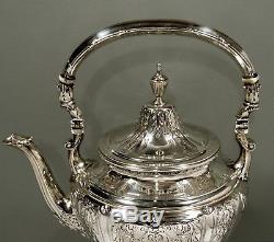 Gorham Sterling Tea Bouilloire Et Stand Set De Thé 1919 Maintenon 68 Oz